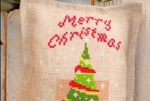 Kerst / Mooie handwerk- en borduurpakketten met het thema Kerst.