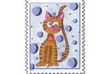 Perfect Postage / A fun collection of postage stamps . Unfortunately they are not available anymore , as Zazzle discontinued their partnership with the USPS :(