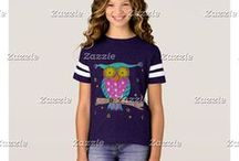 iCraftCafé kids fashion / A selection of colorful t-shirt for toddlers , kids and teens , all designed by myself .