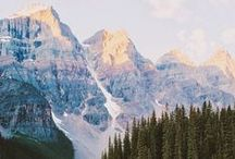 travel | mountains + forests / tall mountains, dense forests, hiking and camping