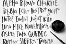 art | fonts + handlettering / pretty fonts and painted letters