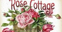 *~*Rose ~ Cottage*~* / Hi, this board is a cottage in Pink, Red, & white, with a rose theme. DONE IN COLABORATION WITH MY FRIEND: Melinda Bartolazo,,,,NOTE: Anything not related to theme will be deleted