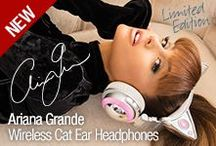 Ariana Grande Cat Ear Headphones / Limited Edition Ariana Grande Cat Ear Headphones only from Brookstone