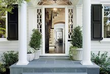 EXTERIORS   ENTRANCE / Classic home style. Ideas for the entrance and adding curb appeal.