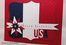 Red, White & Blue / Ideas to inspire you in creating your own cards and small favors to fill with goodies.