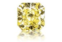 Yellow Diamonds We Love / Natural Fancy Yellow diamonds can be as bright and shiny as the sun or cool and light as a glass of lemonade.  In hues ranging from pure yellow to greenish yellow, orangey yellow, or brownish yellow, no two yellow diamonds look the same.  Which color do you love?