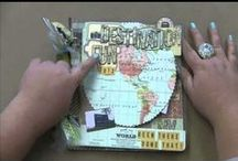 YouTube videos / Melissa Frances, Mark Montano, Tim Holtz, and others showing how to make projects. Note: See Splash of Color videos in their own board.