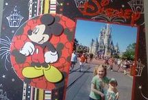 Scrapbook: Disney Scrapbooking / Walt Disney scrapbook layouts and mini albums. All to do with Disney mania in crafts