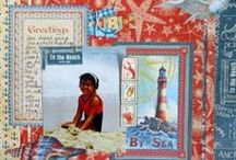 Graphic 45 By the Sea / Crafting, scrapbooking, and all things Graphic 45 concerning their collection By the Sea and beach theme projects.Mini books, layouts, cards, cardmaking.