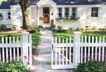    Stone front cottages    / We have a brick home and I love stone cottages, natural stone, you name it! Pinning some ideas for the front of our home for inspiration. See our home tour here: https://dianaelizabethblog.com/our-home-gallery/
