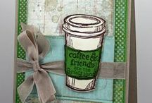 Cards: Coffee / Coffee inspired cards, layout, stamps, and even coffee recipes.