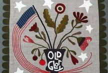 Quilts: Americana~~**~~ / Expressions of Americana in quilts & related stitchery / by ☆ ☆ Alice Cooksey ☆ ☆