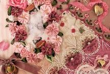 Quilts: Crazy~~**~~ / Quilts that feature Embroidery with velvets & ribbon. Victorian elegance / by ☆ ☆ Alice Cooksey ☆ ☆