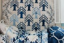 Quilts: Blue & White~~**~~ / Classic color way.  Quilts with the blue and white color combination. / by ☆ ☆ Alice Cooksey ☆ ☆