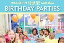Birthday Parties / MCM is a GREAT place to host your child's birthday. Our 50,000 square feet of bright, interactive exhibits provides the perfect backdrop for your celebration. This board is full of fun ideas for birthday parties if you want to spice it up even more. For more information about booking a birthday party at MCM visit http://www.mississippichildrensmuseum.com/visit/birthday-parties/.