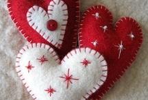 Valentine - sewn hearts 1