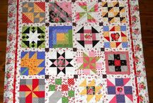 Quilts: Samplers / Many different block designs in one quilt. Scrappy or controlled color / by Alice Cooksey
