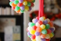 Candy Land - ORNAMENTS / Everything sweet for a Candy Land Christmas.....happiness / by Becky Arcizo