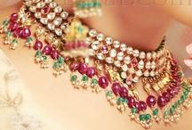 Kundan & Various Indian Jewelry  / extravangant kundan, Tikkas, polki, sari belts, payal, nose rings, kalira, bracelets, bangles, and rings  / by Destiny Murphy