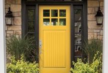 """Favorite front doors / Pella entry doors are a perfect way to say """"welcome."""" Our stylish doors offer the distinctive design flexibility to complement your home.  Explore the possibilities at Pella.com."""