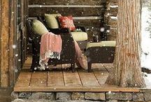 Inspired log cabins / Building a vacation home? Or just dreaming about it? Ideas from Pella Windows and Doors to inspire your cabin designs. Visit Pella.com to learn more.