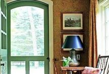 Design with green / Give your home a fresh look. Pantone named Emerald green the color for 2013. Spruce up your home's exterior with stylish green Pella windows and doors. Explore energy-efficient wood, vinyl and fiberglass windows, front doors and patio doors at Pella.com. / by Pella Windows and Doors