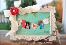 Stampin' Up 3-D Crafts / I love combining stamps, ink, paper, and 3-D crafts. Stampin' Up crafts are my favorite!!!! / by Maria Salazar