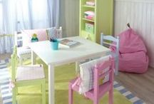Playroom Furniture / Gorgeous, gorgeous tables, chairs and decor for the fashionable playroom