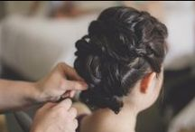 Inspiration - Wedding Hair UpDo / buns, ponytails, braids - lots of pretty ways to wear your hair UP on your wedding day