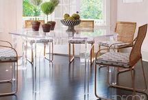 LUCITE / Lucite! Dramatic rooms. Amazing rooms / design inspiration / beautiful rooms  / by SSDB