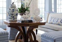 BLUE AND WHITE ROOMS / Blue and white rooms / by South Shore Decorating