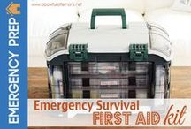 E-Prep:  First Aid / First aid is an important part of being prepared for an emergency.  Have the proper tools and supplies on hand, as well as knowledge on basic first aid skills.