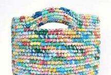 crochet recycle plarn - fabric - rope