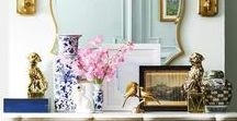DETAILS & STYLING / Interior design and decorating: Vignettes and other decorating details and styling tips and inspiration