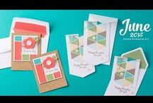 Stampin' Up! My Paper Pumpkin June 2015 / Sign up for My Paper Pumpkin for only $19.95 a month on my website  http://BeautyScraps.stampinup.net and visit my blog http://myBeautyScraps.blogspot.com for alternate ideas and inspiration!