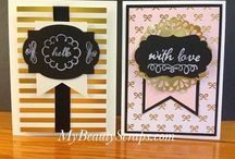 Stampin' Up! My Paper Pumpkin August 2015 Chalk it Up to Love / Sign up for My Paper Pumpkin for only $19.95 a month on my website http://BeautyScraps.stampinup.net and visit my blog http://myBeautyScraps.com for alternate ideas and inspiration!
