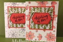 Stampin' Up! My Paper Pumpkin October 2015 Blissful Bouquet / Sign up for My Paper Pumpkin for only $19.95 a month on my website http://BeautyScraps.stampinup.net and visit my blog http://myBeautyScraps.com for alternate ideas and inspiration!