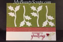 Stampin' Up! My Paper Pumpkin November 2015 Mistletoe and Holly / Sign up for My Paper Pumpkin for only $19.95 a month on my website http://BeautyScraps.stampinup.net and visit my blog http://myBeautyScraps.com for alternate ideas and inspiration!