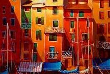 Cityscapes / Art / Painting / Artworks / Citycapes for inspiration by different artists