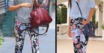 Брюки с цветочным принтом. / С чем можно сочетать брюки с цветочным принтом.