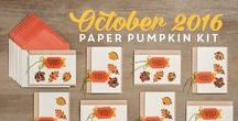 Stampin' Up! My Paper Pumpkin October 2016 Season of Gratitude / Sign up for My Paper Pumpkin for only $19.95 a month here http://bit.ly/2bv8byh  Visit my website http://MyBeautyScraps.com to learn all about the perks of signing up with me and for alternate ideas and inspiration!