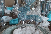 Blue Christmas Party Ideas / Blue, White, & Silver with Snowflakes make for a magical Christmas Party / by Tammy M. Smith