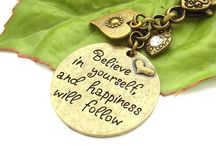 Words and affirmations / by Blue Forest Jewellery