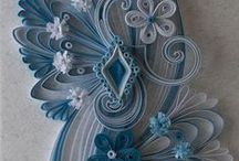 - quilling  / paper quilling and faux wrought iron.