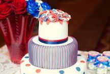 Wedding Ideas: Red, white and blue / Add a patriotic streak to your celebrations!