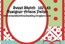 SweetSketchWednesday.blogspot.com / Card sketch blog created by Arlana Patten. Come play along starting every Wednesday.