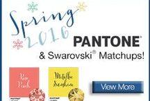 Pantone 2016 / Shop Swarovski's crystals in Pantone's top trending colors.