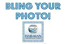 Bling Your Photo / Upload your own photo and customize it with a blinged out Swarovski crystal border.