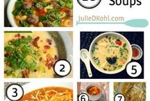 Soup-er duper / Soups and stews. Warm hearty bowls to keep you well fed!