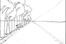 Art: Perspective / 1-point, 2-point perspective and more. Teach your students to make architectual drawings and draw in 3D.
